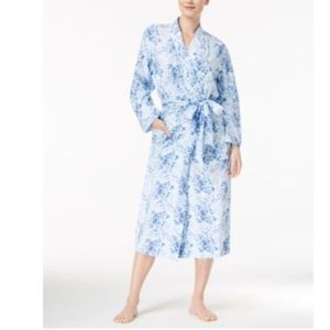 Charter Club Printed Knit Long Wrap Robe (392)
